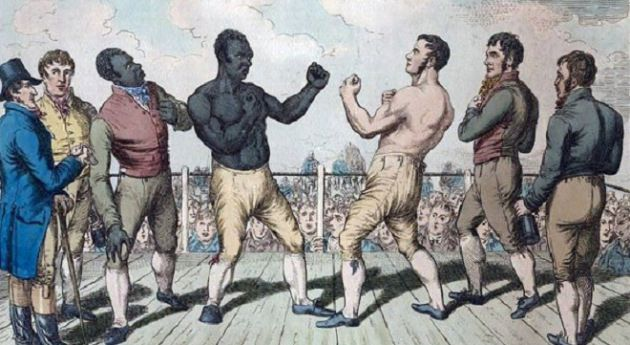 "Little Known Black History Fact~Bill Richmond, a.k.a. the ""Black Terror"", was the first African-American to be labeled an international ""prizefighter."" Born a slave in the area that is now called Richmondtown in Staten Island, Richmond also served as a hangman during the Revolutionary War. His most famous hanging was Nathaniel Hale, the first American to be labeled a spy. Having His first professional fight in 1804, the self-taught welterweight would fight men 4 and 5 times his size and win.:"