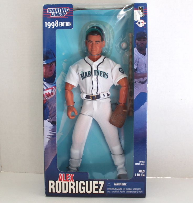 """1998 A-Rod Alex Rodriguez Seattle Mariners 12"""" Collectable Figure New In Box    eBay"""