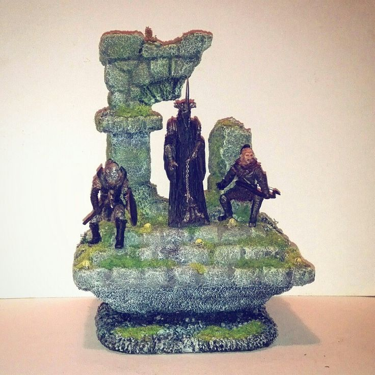 Diorama -Lord of the rings. Sauron & comp.