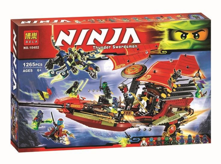 Free Shipping Ninja Building Blocks Final Fight of Destiny's Bounty Blocks Kids Bricks Toys Compatible with