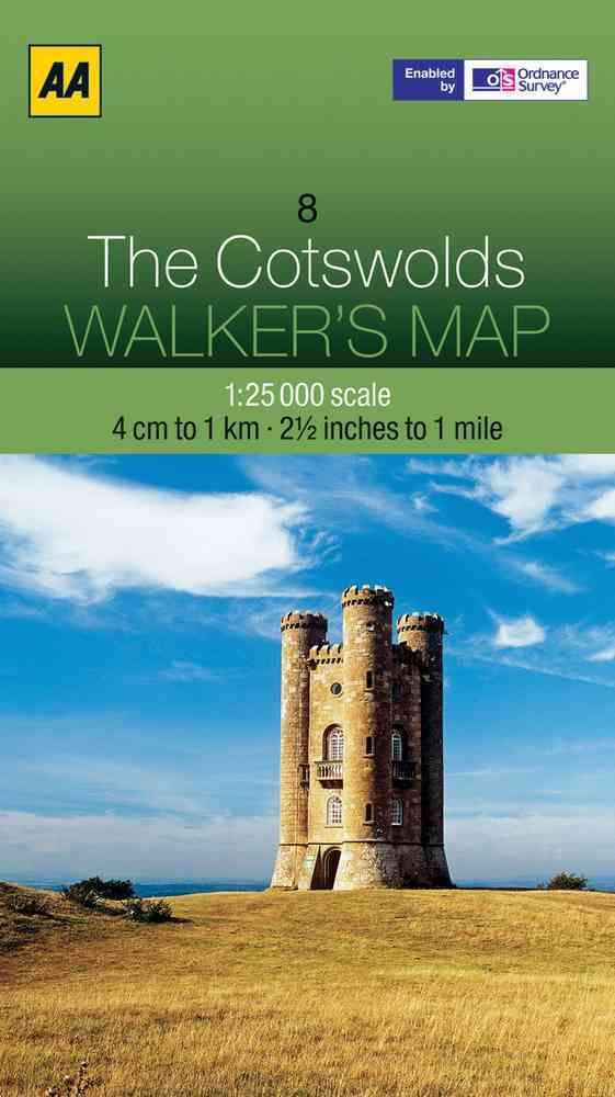 AA Walker's Map The Cotswolds 8