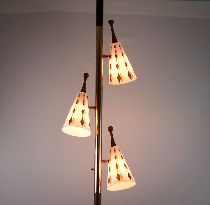 9 best tension pole lamps images on pinterest pole lamps vintage vintage tension pole lamp eames era gold cone globes floor to ceiling light mozeypictures Image collections