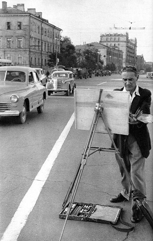 Sadovaya Street, Moscow, USSR, 1954, by Henri Cartier-Bresson.