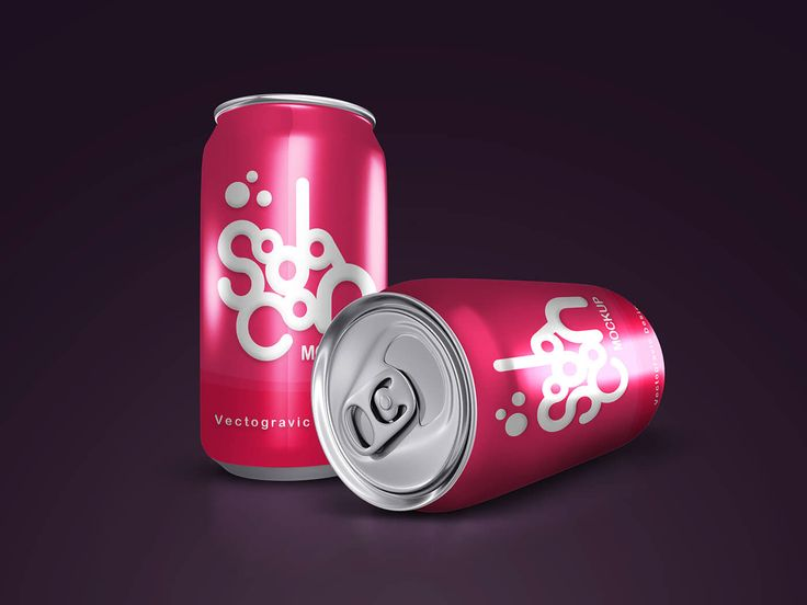 Check out this great free Soda Can Mockups that can be used as a template for your designs and could be a great way to showcase your brand or design projects. Easily drag and drop your design into the smart object, more realistic with large dimensions 4000x3000px.
