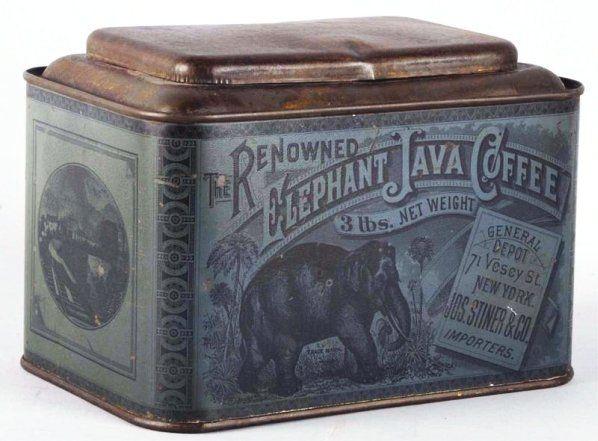 Elephant Java Coffee Tin.