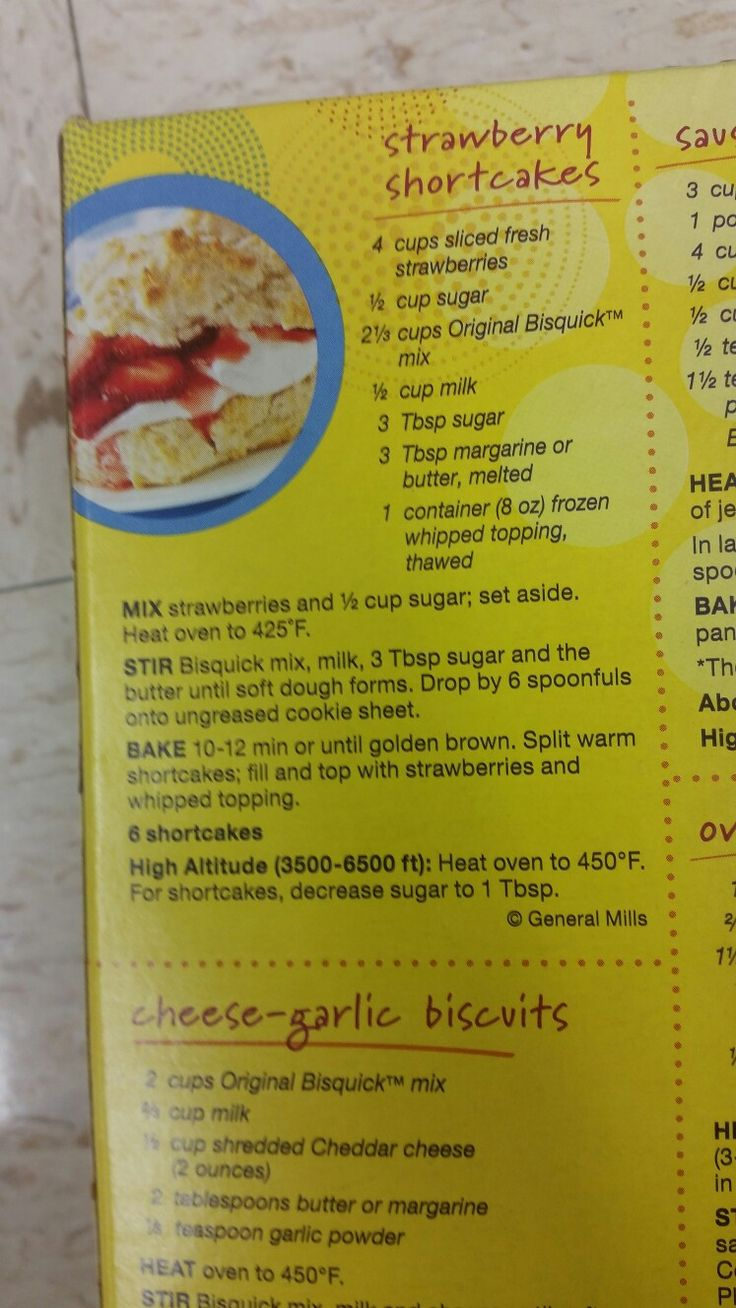 Bisquick Strawberry shortcake recipe