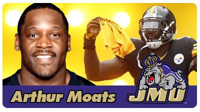 """JMU Night featuring LB Arthur Moats Show Your Colors Proud and True. We Are the Dukes of JMU. The Tides proudly welcome all JMU students and alumni for a special night at Harbor Park featuring NFL linebacker, JMU alum, and Portsmouth native Arthur Moats. This is your chance to get an autograph from the linebacker that tells quarterbacks """"Don't Cross the Moats.""""  Wednesday, July 1 at 7:05 PM vs CHA Knights"""