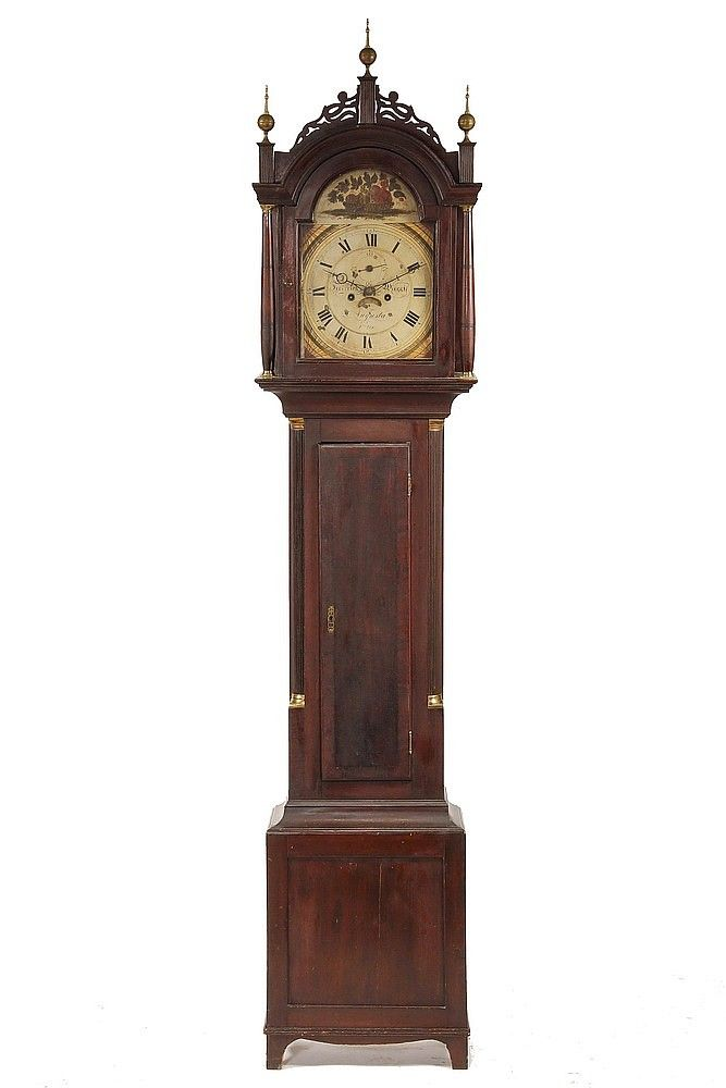 how to set time on grandfather clock