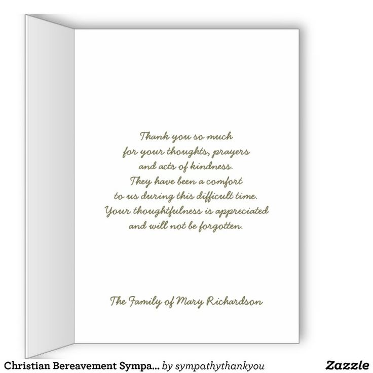 christian bereavement sympathy thank you card thank you cards christian and cards. Black Bedroom Furniture Sets. Home Design Ideas