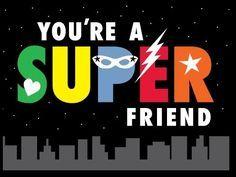 Superheroes invitation