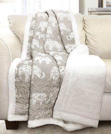 Another great find on #zulily! Soft Gray Elephant Parade Sherpa Throw #zulilyfinds