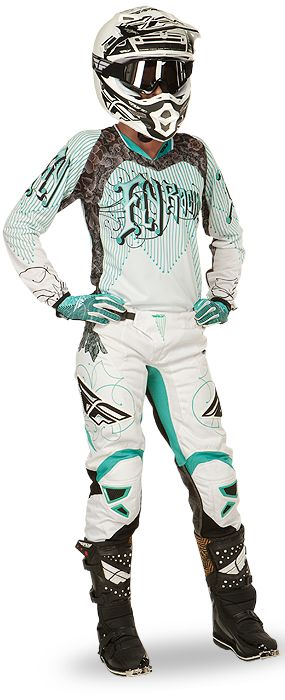 I want this set!!  Kinetic Women's Teal/White Racewear