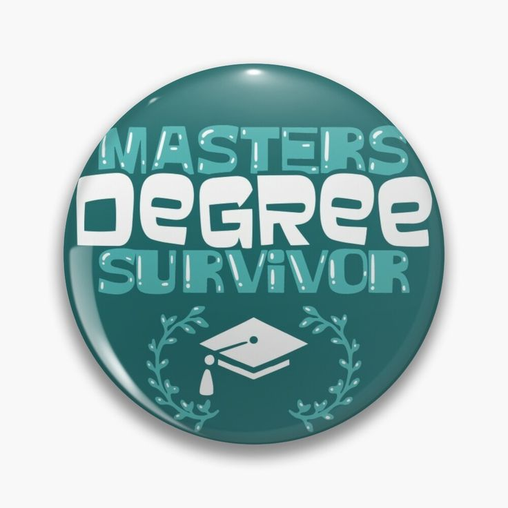 Graduation gift masters degree surviver graduate pin