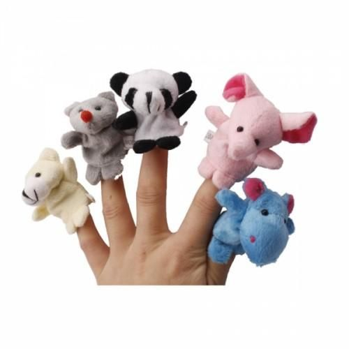 10 Animal Finger Puppets This set of 10 Animal Finger Puppets is made of durable synthetic fur with velour. The cool stuffed animals have a cute look and feel, each with its own personality, strong and cuddly. Each puppet measures 2.36 inch in length.