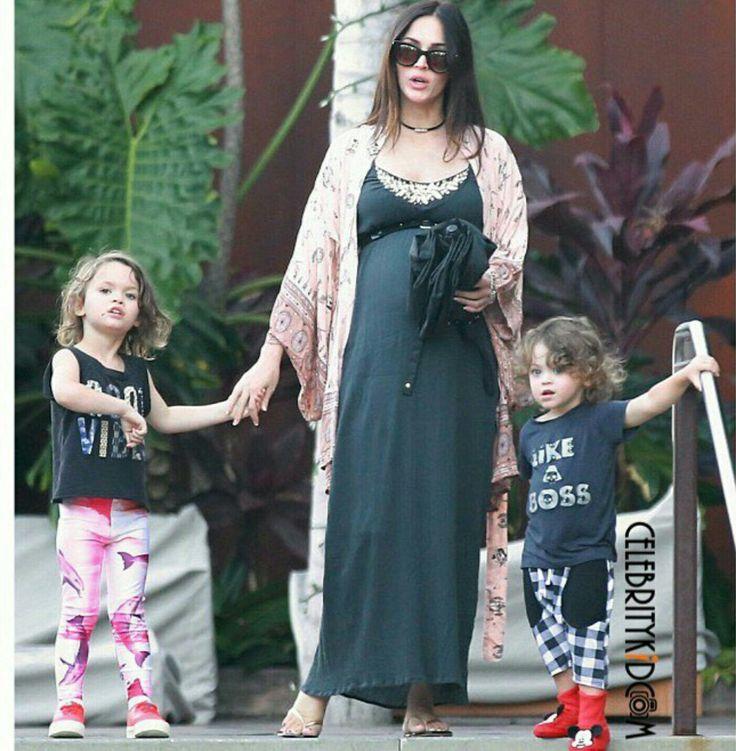 Clebrity  Megan Fox kids plaid spors wear