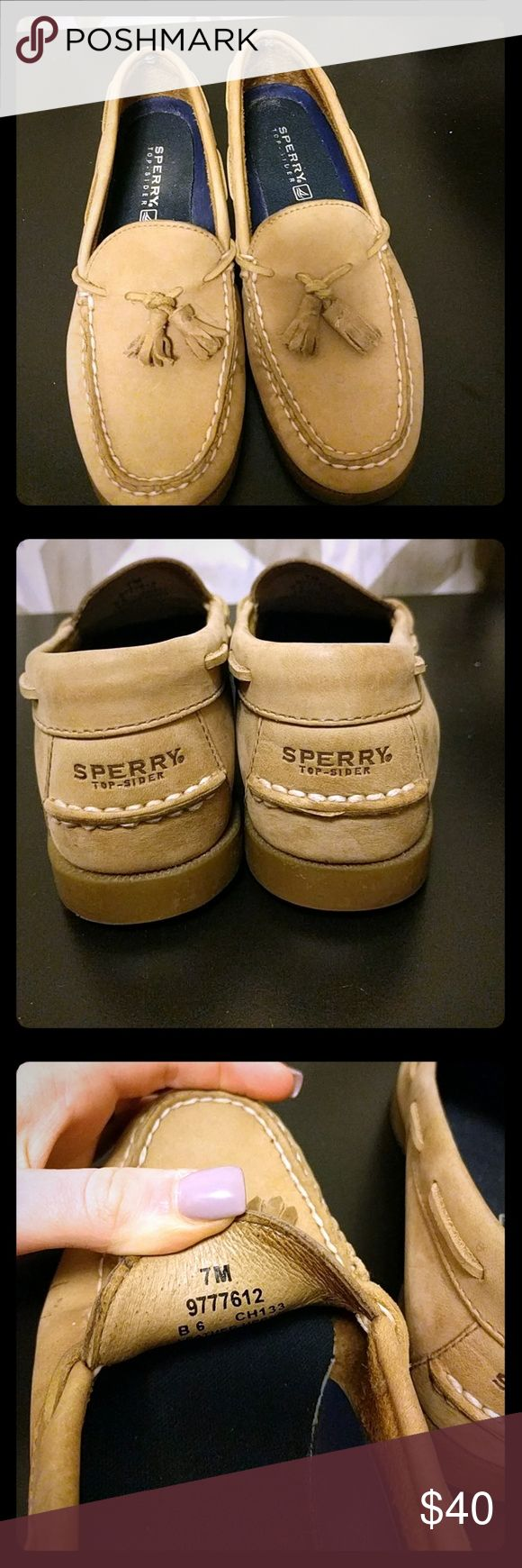 Women's Sperry Boat Shoes Super cute women's Sperry boat shoes. Only worn a few times so they still need broken in. Size 7. Sperry Top-Sider Shoes Flats & Loafers
