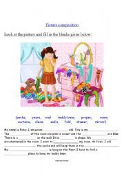 English worksheet: Picture composition