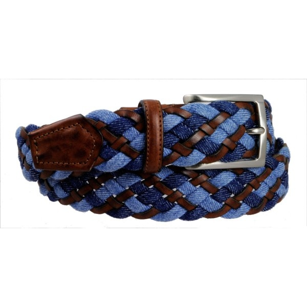 Soft and comfortable elastic belt.  An elegant and glamour accessory, ideal to give a touch of originality to your look.  Bright finish solid brass buckle.  Entirelyhand made inItaly.
