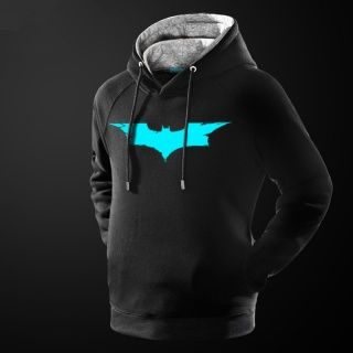 glow in the dark mens batman hoodie superhero pullover hooded sweatshirt