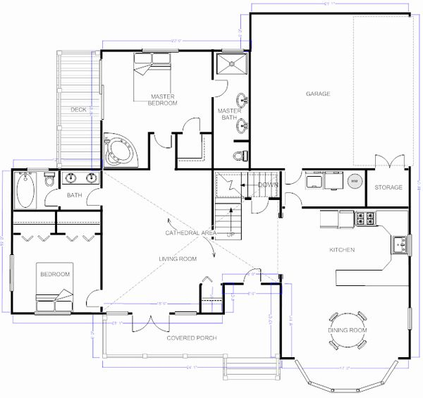 Visio Floor Plan Template Unique Smartdraw Floorplan Visio Alternative In 2020 Floor Plans Free Floor Plans Home Design Software