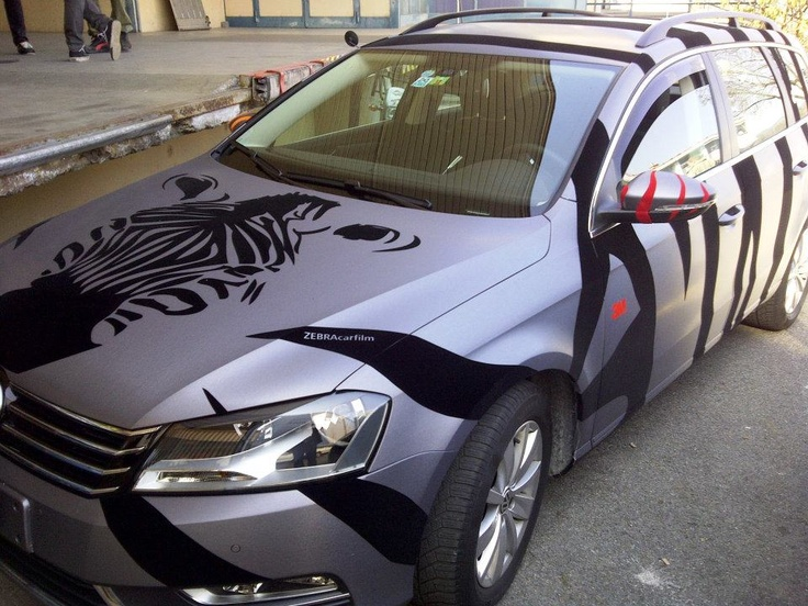 Car wrapped in ZEBRA Car film. Car Wrapping Pinterest