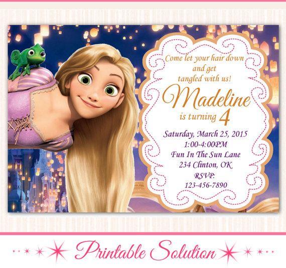Tangled Invitation  Tangled Birthday  Tangled por PrintableSolution
