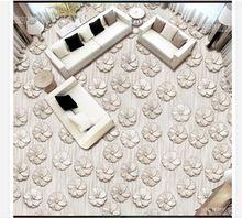 3D pvc vloer schilderen custom muurschildering behang 2015 Moderne driedimensionale bloemen ontwerp 3 d vloertegel schoonheid kamer decoratie(China (Mainland))