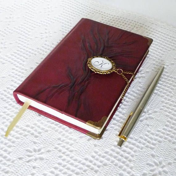 Personalized Journal Leather Notebook Diary Writing  #leatherjournal #personalizedjournal #notebook #leatherdiary #burgundy #womensjournal #leathergift #leatherart #treeoflife