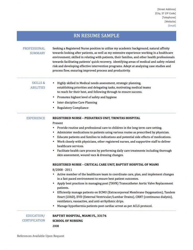 Looking to write the best Registered Nurse Resume, but don't know where to start? Check out our perfectly written resume examples ,tips and templates.