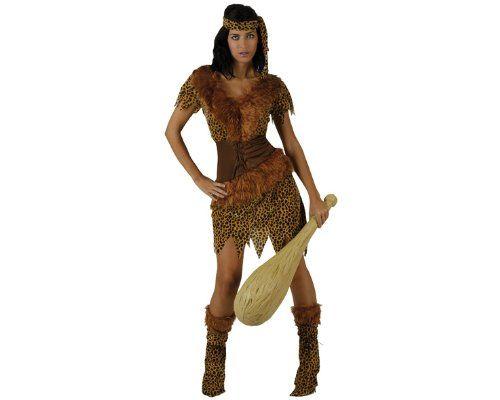 Damen Steinzeit Höhlenmensch Neandertaler Kostüm ca 26€   Kostüm-Idee zu Karneval, Halloween & Fasching