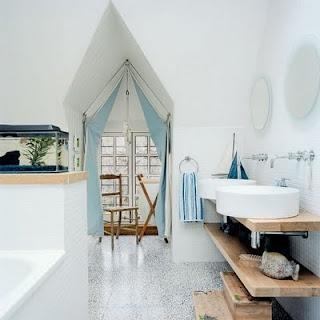 Beach Decor Nautical Bath...love The Window Treatment