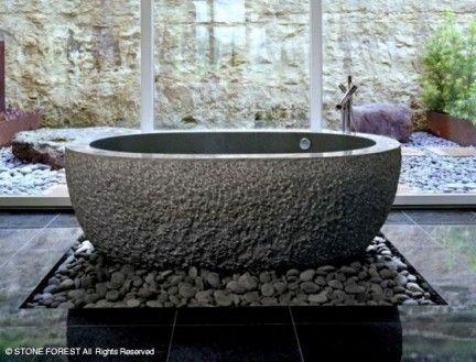Oltre 25 fantastiche idee su Vasca da bagno in pietra su Pinterest  Decorazi...