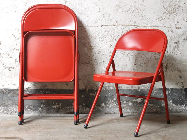 Red Folding Chair from Scaramanga's vintage furniture collection