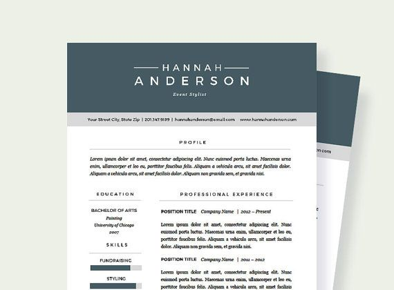 44 best Resume Templates images on Pinterest Cover letters - one page resume or two