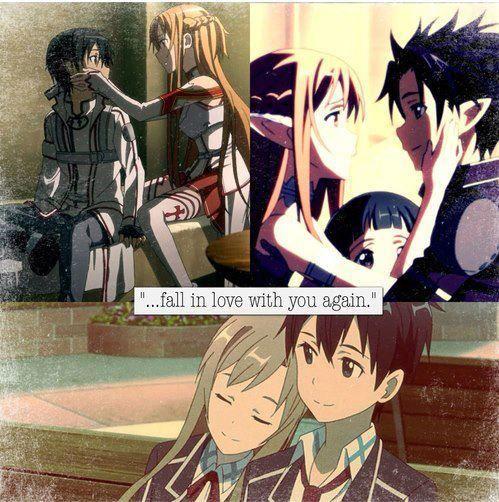 Kirito & Asuna <3 caer en amor con usted de nuevo