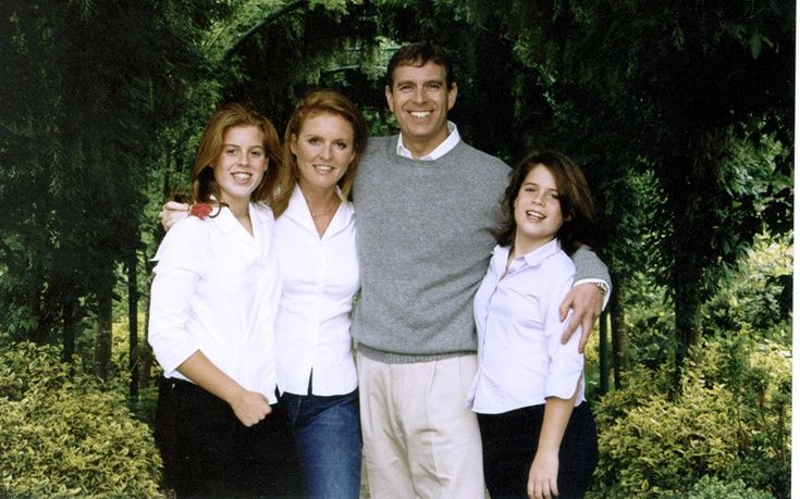 Prince Andrew and family 2001 Christmas Card