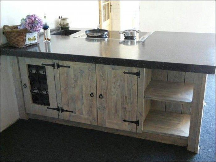 Landelijk kookeiland van steigerhout keukenblok pinterest landelijk kookeiland keuken - Keuken decoratie model ...