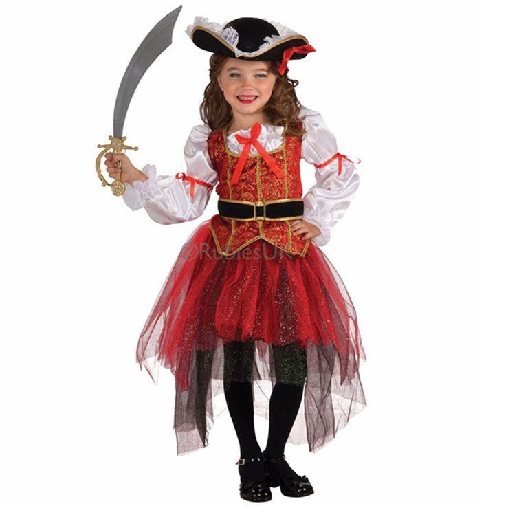 Хэллоуин Девушки Выполняют костюмы, милые и смешные маленькие девочки одеты как пираты Хэллоуин костюмы, детская Хэллоуин Подарок #men, #hats, #watches, #belts, #fashion