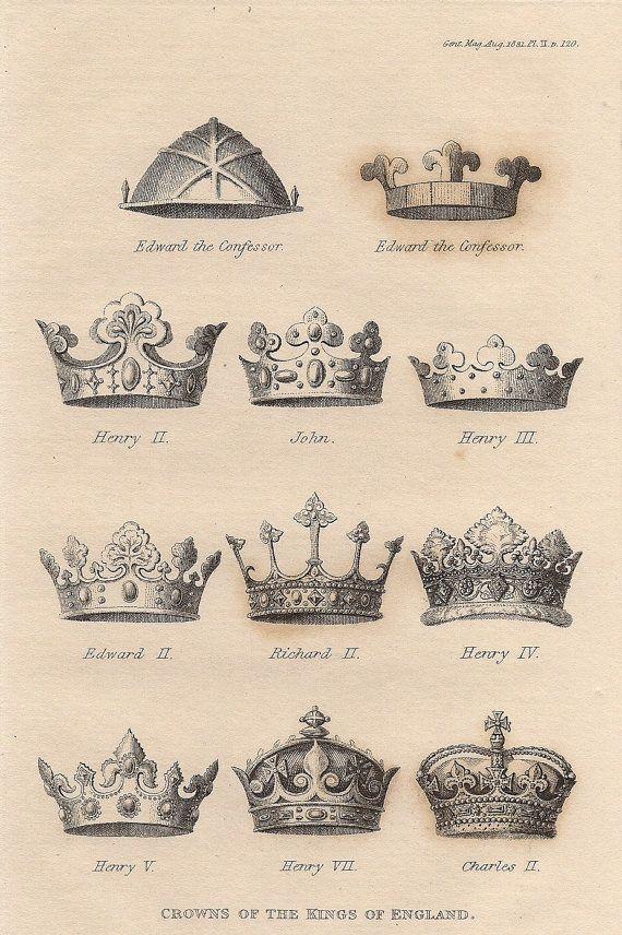 Coronas reales corona británica impresión a por ImageCelebration