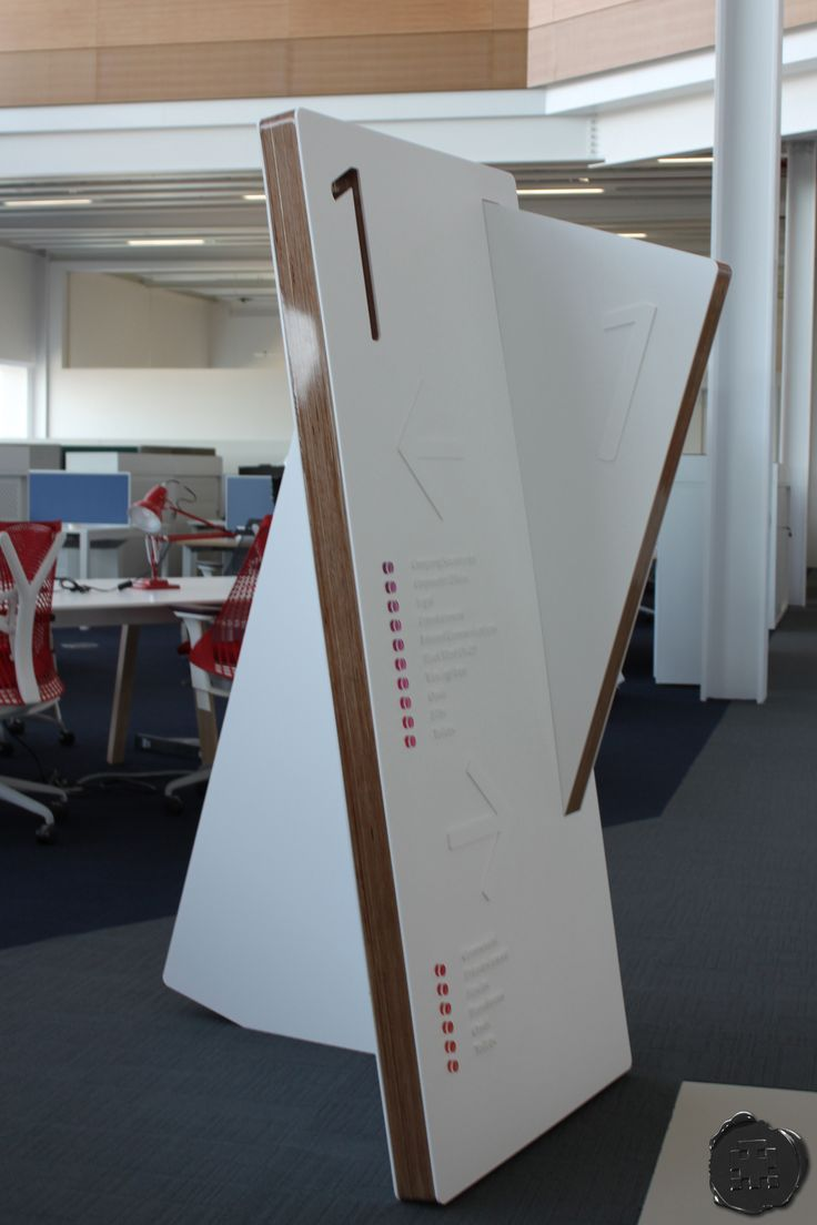 spacemanstudio.co.uk design, fabricate and install this first floor freestanding totem for sky with floor directory