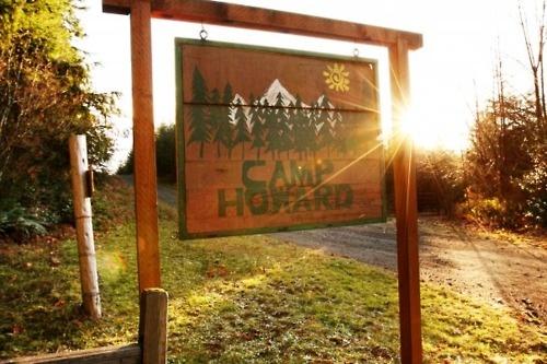 Signage for camp entrance