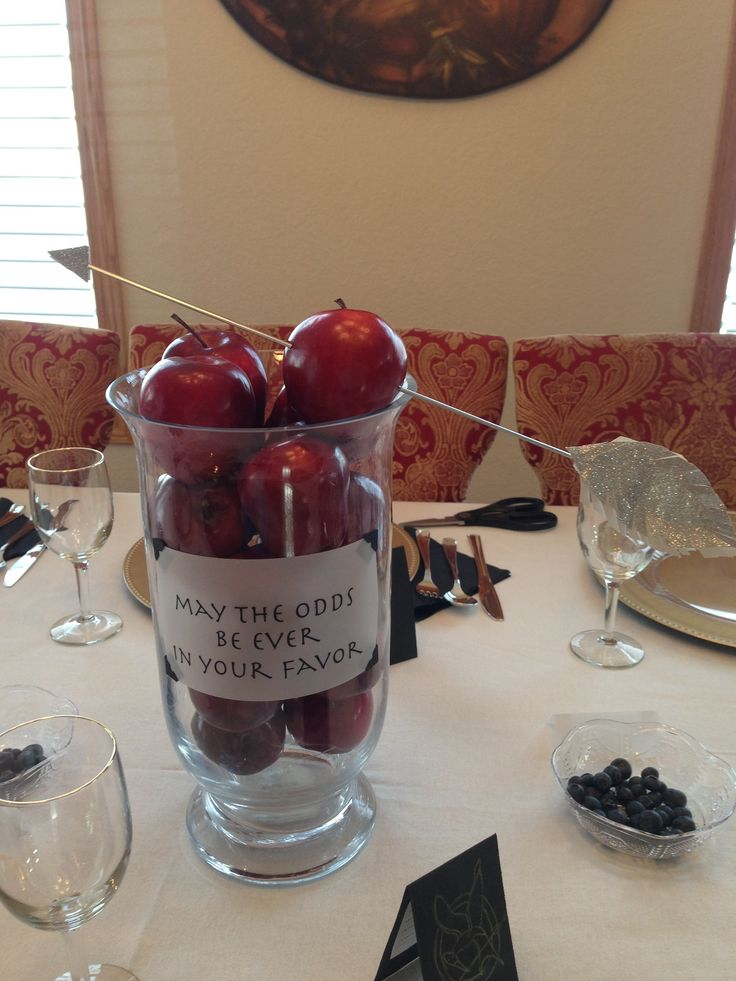 Hunger Games party Arrows through apples***