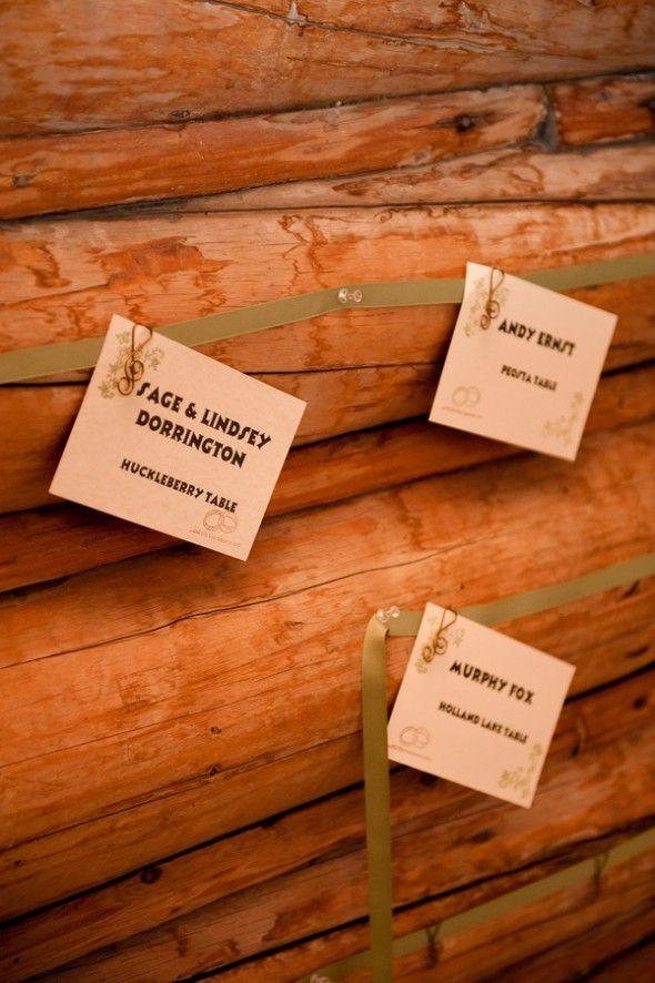 wedding table name card size%0A A Mountain Rustic Wedding Near Sheridan  MT