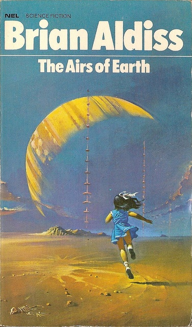 The Airs of Earth by Brian Aldiss cover: Bruce Pennington.