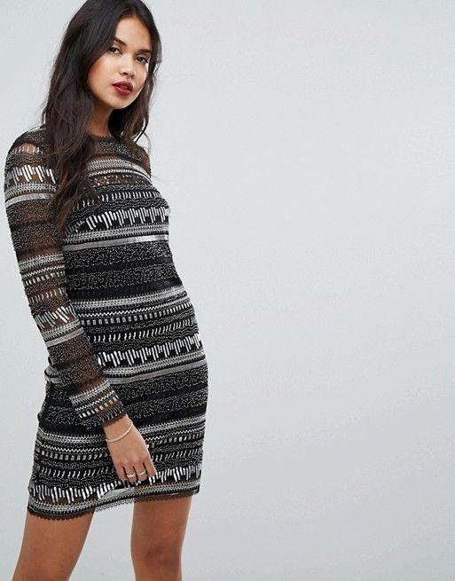 e8c8ea5c86f92 Forever New Sequin Striped Midi Dress   ASOS   Pinterest   Sequins, Robe  and Midi dresses