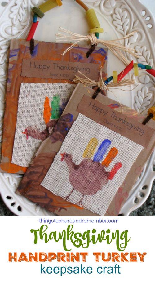 Hand Print Turkey Keepsakes
