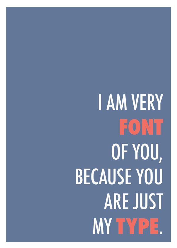 Sara Heffernen - Font of You  Graphic Design Inspiration – Punny Design Posters
