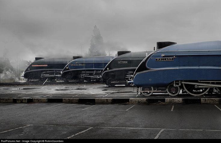 Four A4 Pacifics 60022 Mallard, 60019 Bittern, 60007 Sir Nigel Gresley and 60009 Union of South Africa