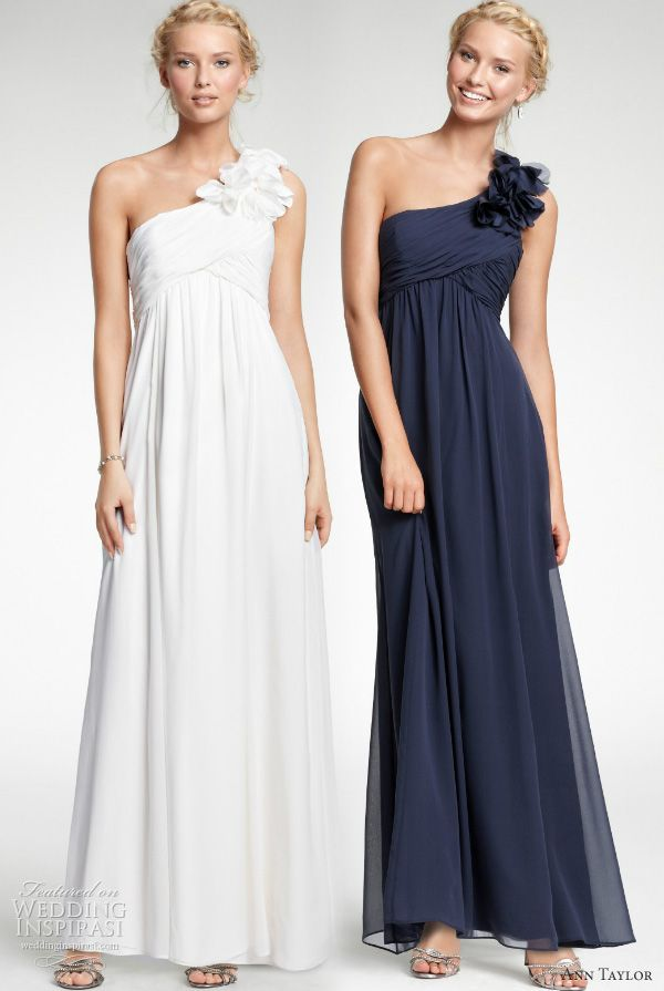 Ann Taylor gowns. Simple and chic, and affordable.
