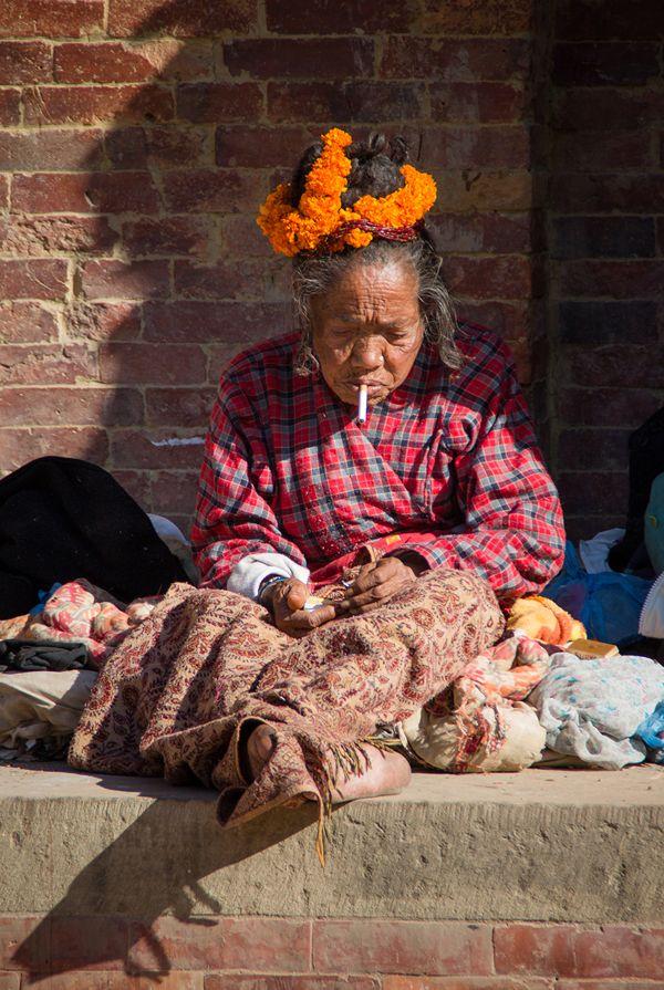 Woman Sadhu, Nepal. Street Photography : People of Kathmandu  by Àlex Reig, via Behance © Àlex Reig 2014 #streetphotography #Sadhu #Nepal